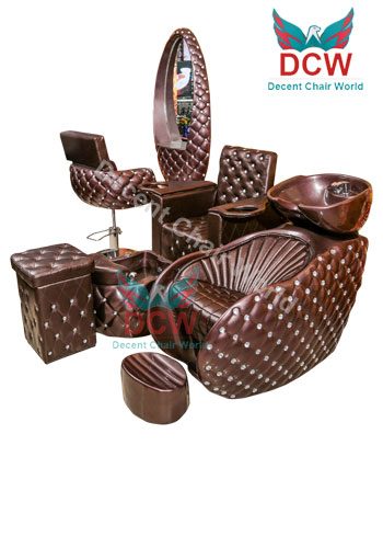 0 Decent Salon Chair World Indore DCW Pedicure Manicure Chair for Salon with complete set